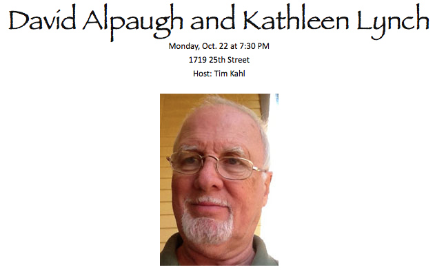 David Alpaugh & Kathleen Lynch @ Sacramento Poetry Center 10/22/2014